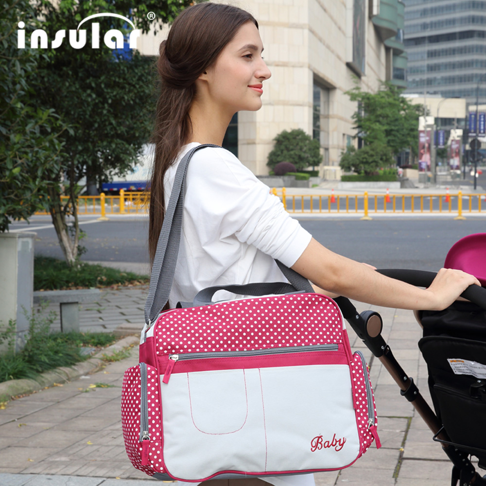 INSULAR Brand Multifunction Nylon Diaper Bag Backpack Mother Care Bags Baby Stroller Bags Nappy Bag For Mom