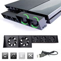 USB External Turbo Temperature Control Cooling 5 Fan Cooler for Sony Playstation 4  for PS4 Promotion Free Shipping