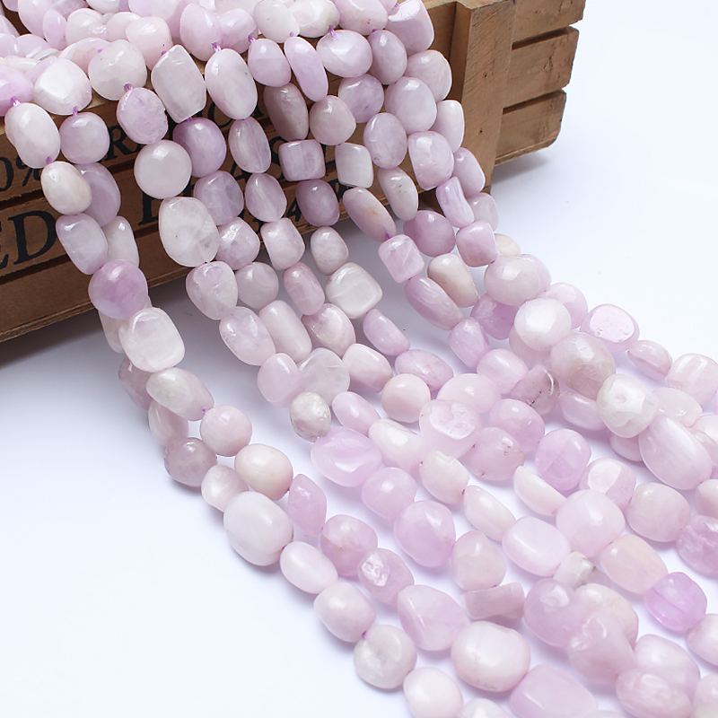 Natural Stone Beads 8 10mm Irregular Kunzite Purple Spodumene Stone Beads For Jewelry Making Bracelet Necklace