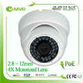 H.265 4MP 2592*1520 Auto focal Motorized 2.8-12mm X4 Zoom Lens Dome IP Network Camera POE IP66 Waterproof CCTV IPCam cam