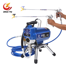цены Calvin 1595 double piston machine gunProfesional Electric Airless Paint Sprayer PISTON Painting Machine motor