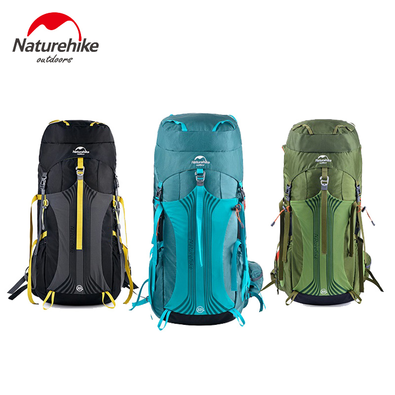 NatureHike 65L 55L Large Capacity Backpack Hiking Packs For Outdoor Sports Climbing Travel Camping Mountaineering Rucksack hot 55l large capacity professional mountaineering backpack waterproof outdoor travel should bag hiking camping rucksack