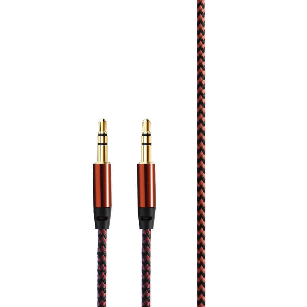 جديد 3.5 ملليمتر الذكور إلى الذكور الهاتف سيارة النايلون مطلي ستيريو AUX سماعة جاك الصوت Aux كابل كابل المحمولة PVC المواد