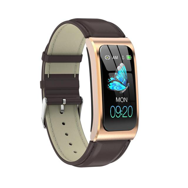 Lady Smartwatch 1.14″ IP68 waterproof heart rate stopwatch alarm clock fitness tracker swim watch Android IOS