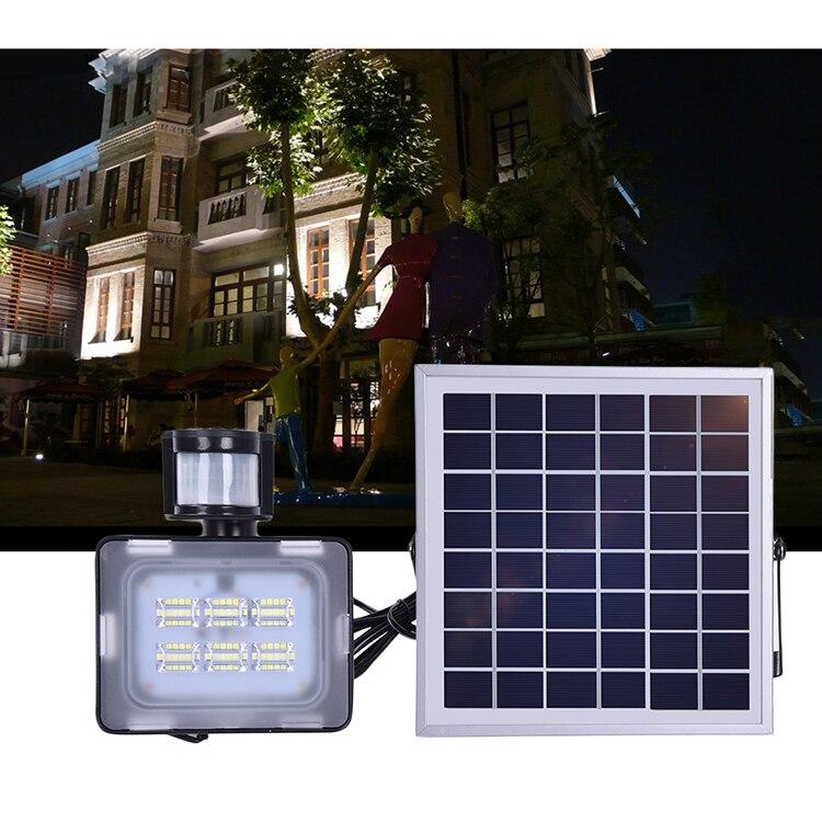 20W LED Flood Light Solar With PIR Motion Sensor SMD 5730 DC12V 24V 2400LM 6000K-6500K Cold White Floodlight Outdoor Lighting 3w 80lm 6500k 10 smd 5730 led white usb camping mini light lamp black white 5v