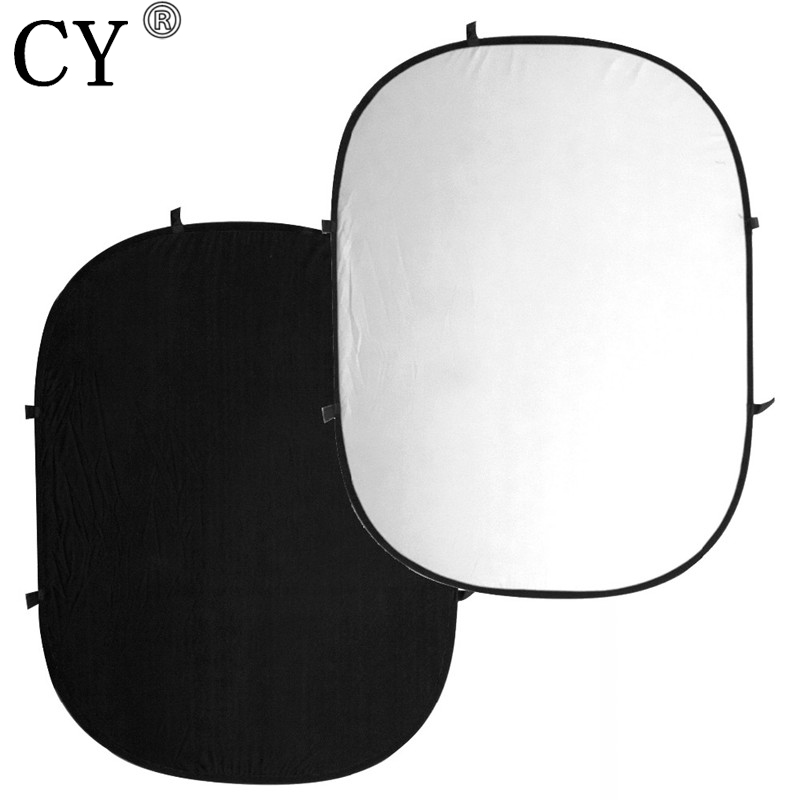 CY Professional Photography Studio Double-Sided Collapsible Oval Black & White Backgrounds Backdrops Hot Selling 5 6 5ft custom backgrounds photography backdrops cake colorful cute birthday photography backgrounds digital printing backdrops