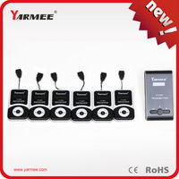 Yarmee wireless tour guide system 2 transimitters 60 receivers with charging case supports 99 channels for group visiting