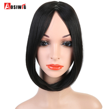 AOSIWIG Swept Clip in on Hair Bang Hair Extension Hair Piece