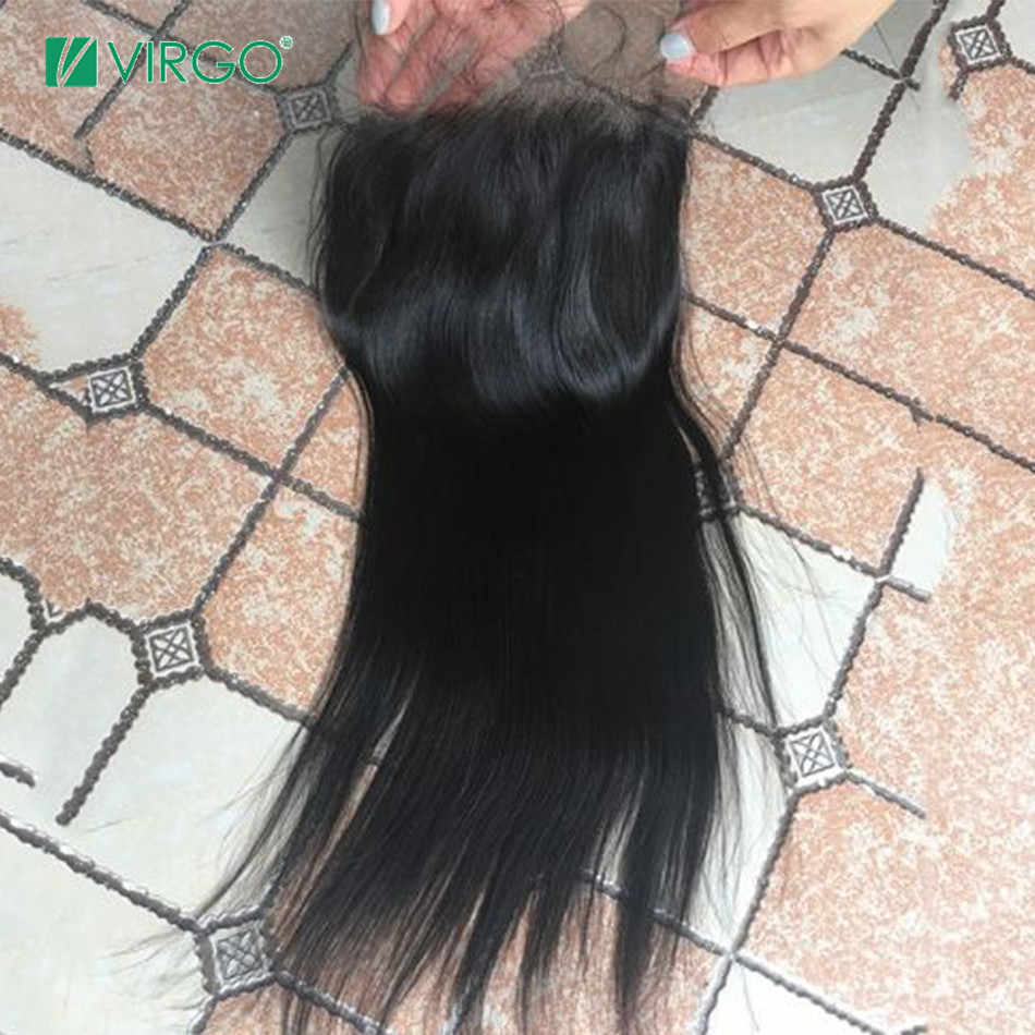 Virgo Braziliaanse Steil Haar Bundels Met Sluiting 5x5 Vetersluiting Met 3 Bundels Weave Remy Human Hair Bundels met Sluiting