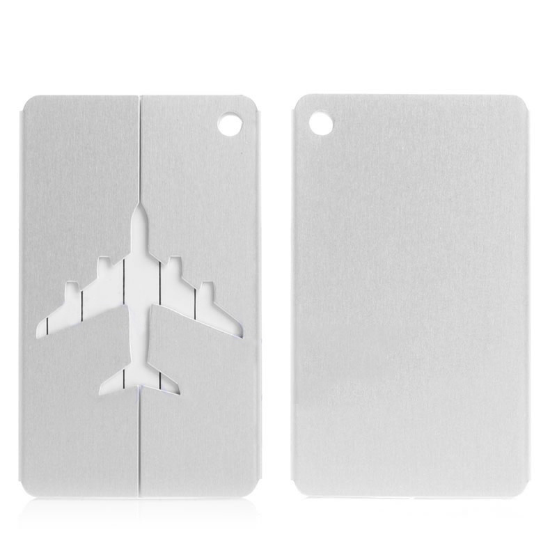 BONAMIE 20Pcs/Lot Metal Luggage Tag Aluminum Alloy Multi Colors Types Air Plane Travel Tags Card Special Luggage Label Name Tags