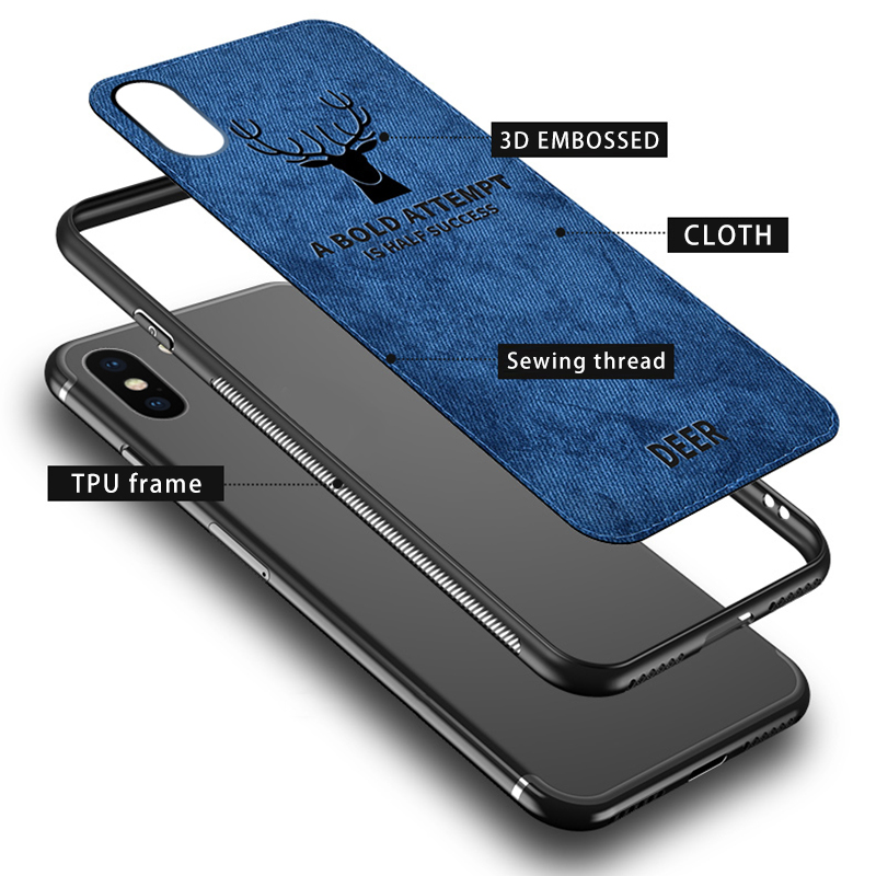 Fabric phone Cloth case on honor 10 9 lite light case for huawei 1
