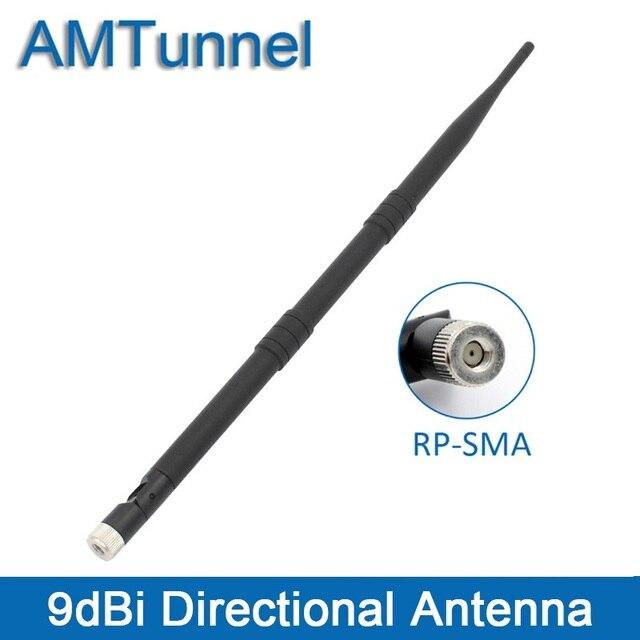 WiFi אנטנת Dual Band אנטנה 2.4-2.5 GHz RP-SMA מקורה אנטנה 9DBI Wlan AntennaFor נתב PCI כרטיס מאיץ