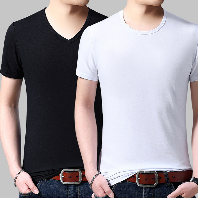 V Neck Short Sleeved T-shirt