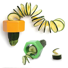 High quality Stainless Steel Vegetable Cucumber Fruit Twister Cutter Slicer Peeler save worry and effort For Kitchen Tools
