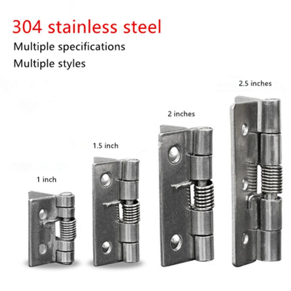304 Stainless Steel Spring Hinge Automatic Cabinet Door Wardrobe Hardware Accessories Mini Miniature Hinge