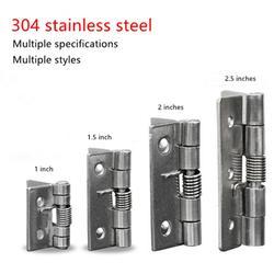 304 ze stalowa sprężyna zawias automatyczne drzwi do szafki szafa sprzętu akcesoria mini miniaturowe zawias w Zawiasy drzwiowe od Majsterkowanie na