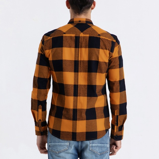 Men's Plaid Shirts Long Sleeve Fashion Streetwear