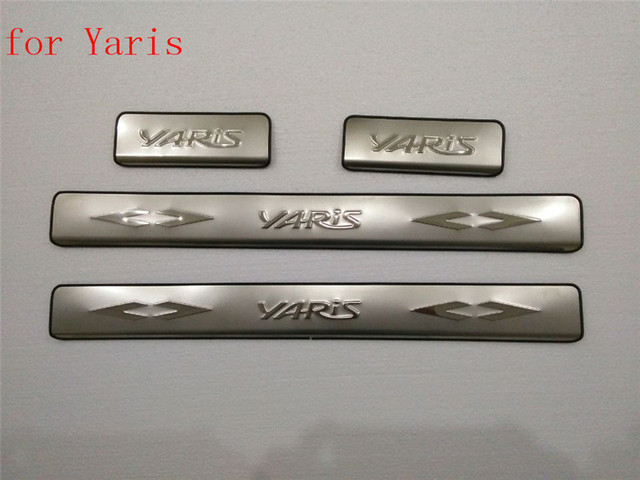 Auto parts Car covers Scuff Plate/Door Sill fit for 2007 2013 Toyota ...