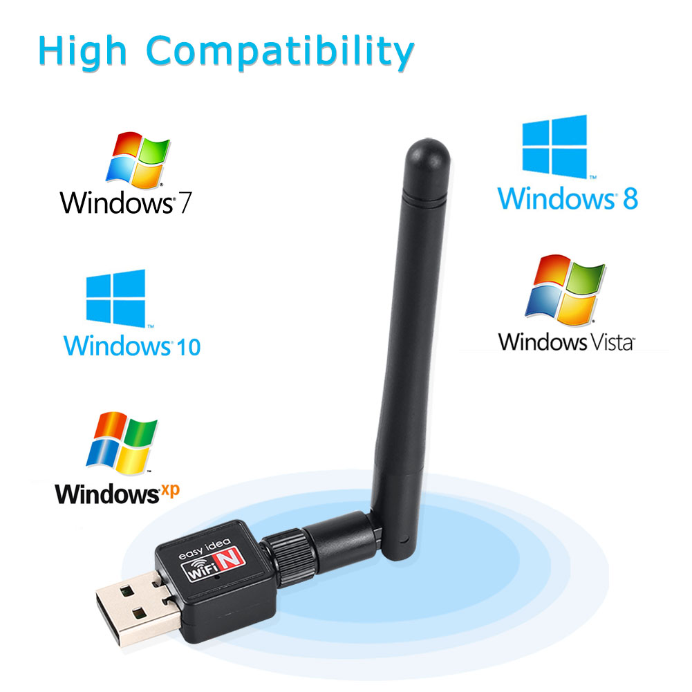 Mini USB Wifi Adapter Wifi USB Ethernet Wi Fi Adapter Mt7601 Wi-Fi Adapter 2dB Lan Card Antena Network PC Wifi Dongle Receiver