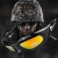 Deportes de la moda 4 lentes Reemplazables gafas de protección Gafas de seguridad Anti-impacto de Arena Al Aire Libre Multi-función Militar gafas