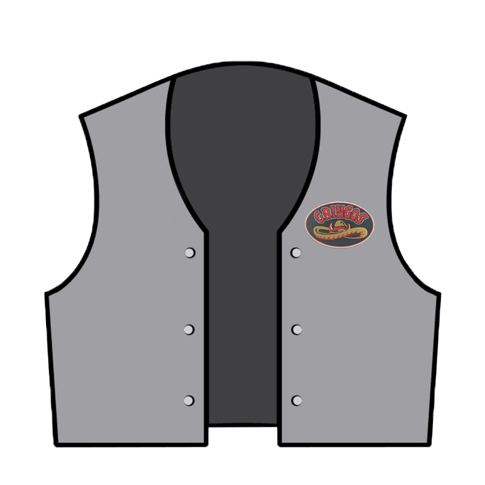 Aliexpress.com   Buy GRINGOS cowboy hat patch embroidery biker front  stickers cool applique for jacket vest back of iron on from Reliable patch  iron on ... 52e95e0850ec