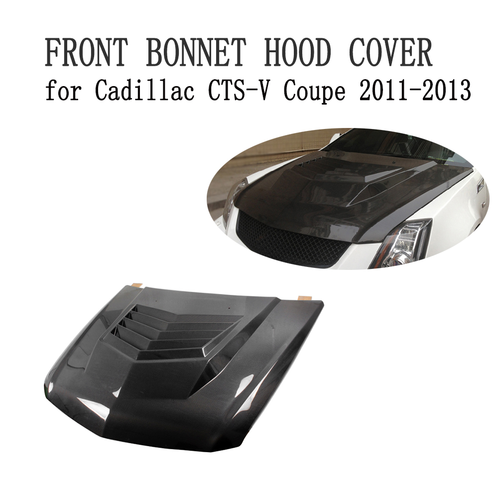 In Fibra di carbonio Cofano Anteriore Hood Copertura Bodykit Fit For Cadillac CTS-V Coupe 2011-2013 Car Styling