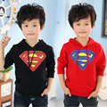 2016 Outono Inverno Super Homem Meninos Roupas Criança Do Bebê com um Moletom Capuz Pullover Crianças Outerwear & Hoodies Roupa Dos Miúdos
