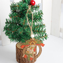 Christmas Wood Hanging Decoration Festival Gift Home DIY Decor Ornaments Pendant