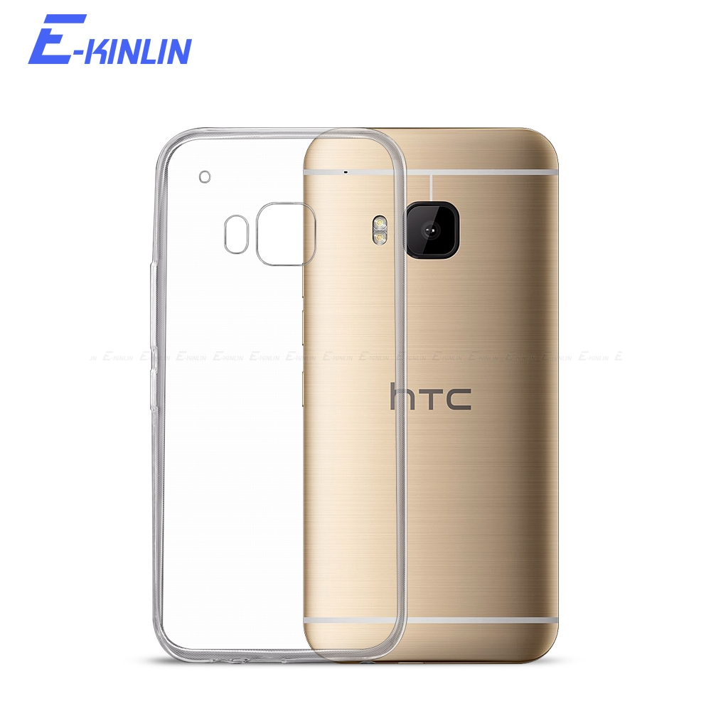 Transparent Silicone UltraThin Clear Soft Full Protective Cover For HTC One M8 M8s M9 Plus M10 S9 TPU Back Case image
