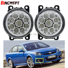 2x High quality Car Exterior Accessories H11 90MM LED Fog Lamps White Yellow For Opel Vectra GTS OPC C 2005-2008