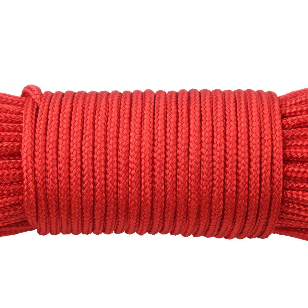 YoouPara 30Pcs 100FT Cordini di sicurezza 2 millimetri Un Basamento Fili dd Lacci Cordini di sicurezza e Corda Cavo della Cordicella di trasporto 100 Colori