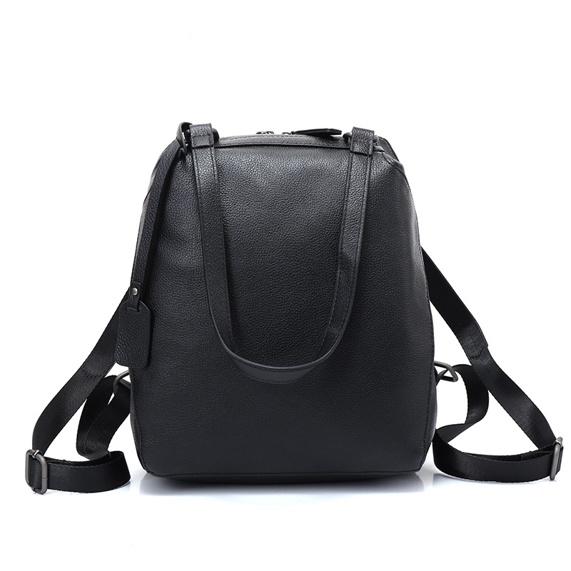Fashion 100% Real Soft Genuine Leather Women Backpack Female Preppy School Style Ladies Bag Girls Notebook Mochilas Mujer mochilas designer genuine leather bag mochila ciclismo preppy style multifunction men canvas bag fb1125