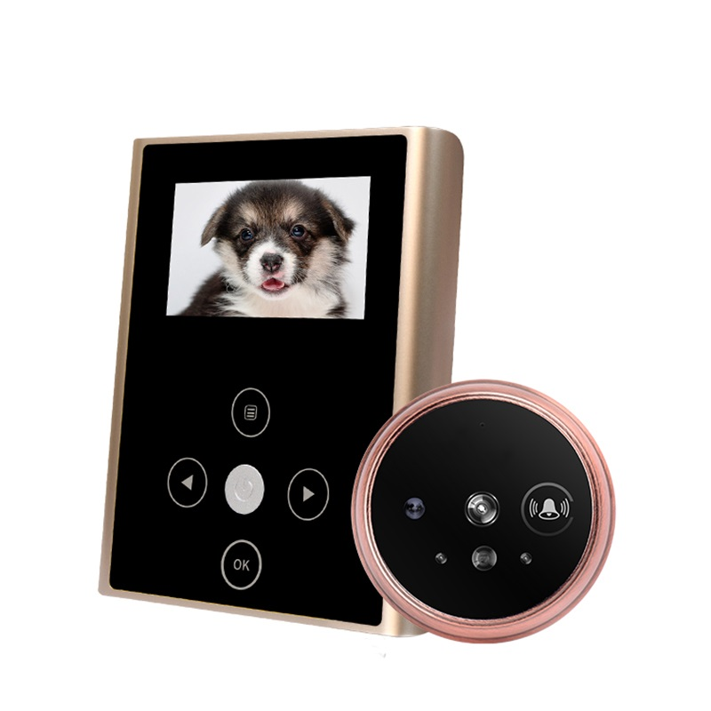 New IR 3.0inch LCD Photo/Audio Video Recording Door Peephole Camera Rechargeable 2000mAh Smart Door Viewer Camera With Doorbell