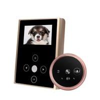 New IR 3.0inch LCD Photo/Audio Video Recording Door Peephole Camera Rechargeable 2000mAh Smart Door Viewer Camera With Doorbell