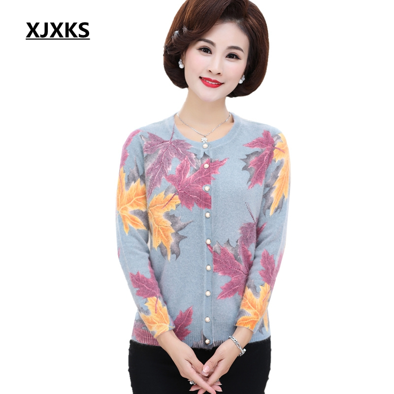 Xjxks Sweater Ladies Knitted Cardigan Sweaters Autumn Winter Garments Plus Dimension Ladies Classic Excessive-Finish Heat Sweater
