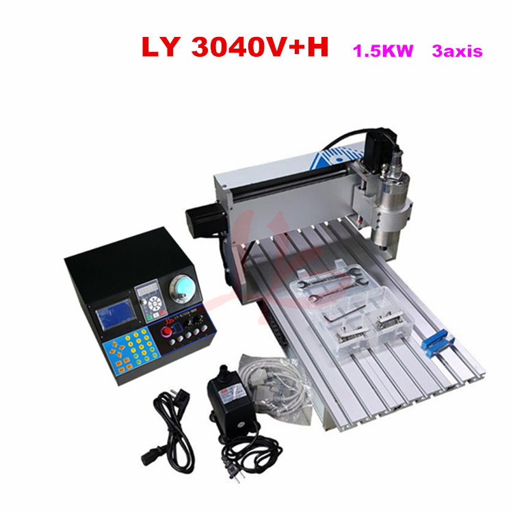 3040 3 axis cnc milling machine with 1500w for metal milling engraving,No tax to Russia cnc 5axis a aixs rotary axis t chuck type for cnc router cnc milling machine best quality