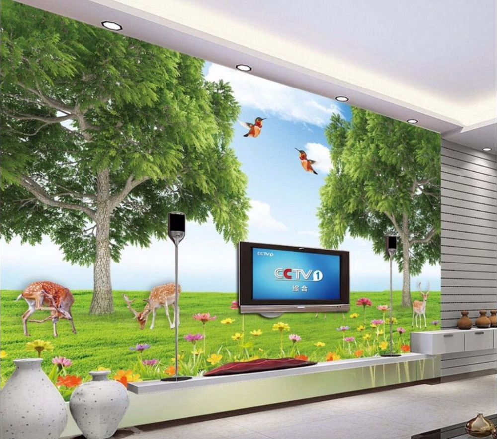 3d wallpaper custom mural photo Forest animal world painting 3d wall murals wallpaper for walls 3 d living room home decor new dacom carkit mini bluetooth headset wireless earphone mic with usb car charger for iphone airpods android huawei smartphone