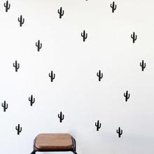 Cactus Vinyl Wall Sticker home Decoration 30 pcs Cute Cactus pattern wall decal Art Decor