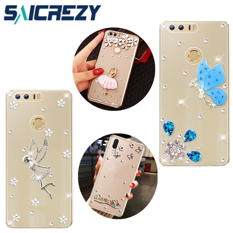 For Huawei P Smart Y7 Prime Y9 2018 case crystal cover honor 7C 7A phone bumper for huawei p20 pro mate 10 honor 9 lite nova 3e