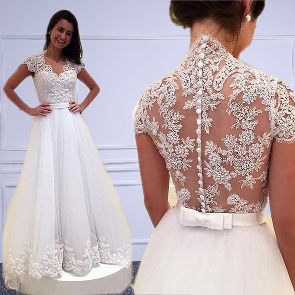 Vestidos blancos elegantes largos baratos