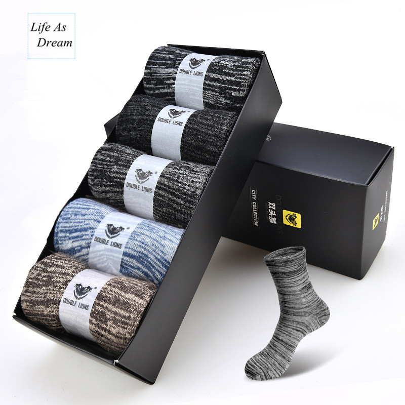 (5 pairs / lot ) brand men socks Free shipping combed cotton colorful dress sock