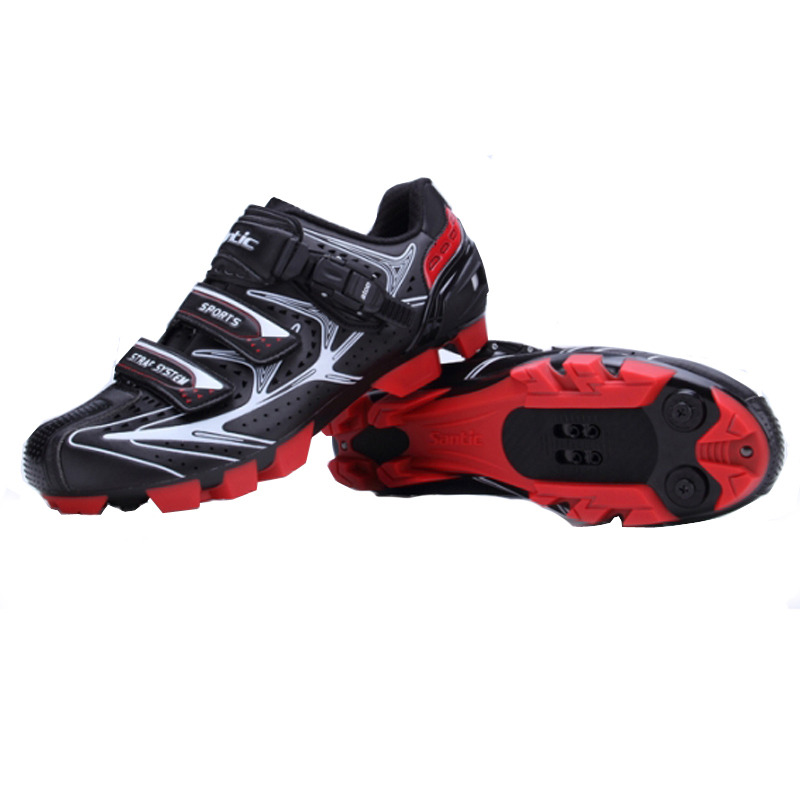 45d6449c0b1 Santic Men Professional Bicycle Shoes Cycling Shoes Road Man Bike MTB Shoe  Size 39 44 US Size 7 11 Black-in Cycling Shoes from Sports   Entertainment  on ...