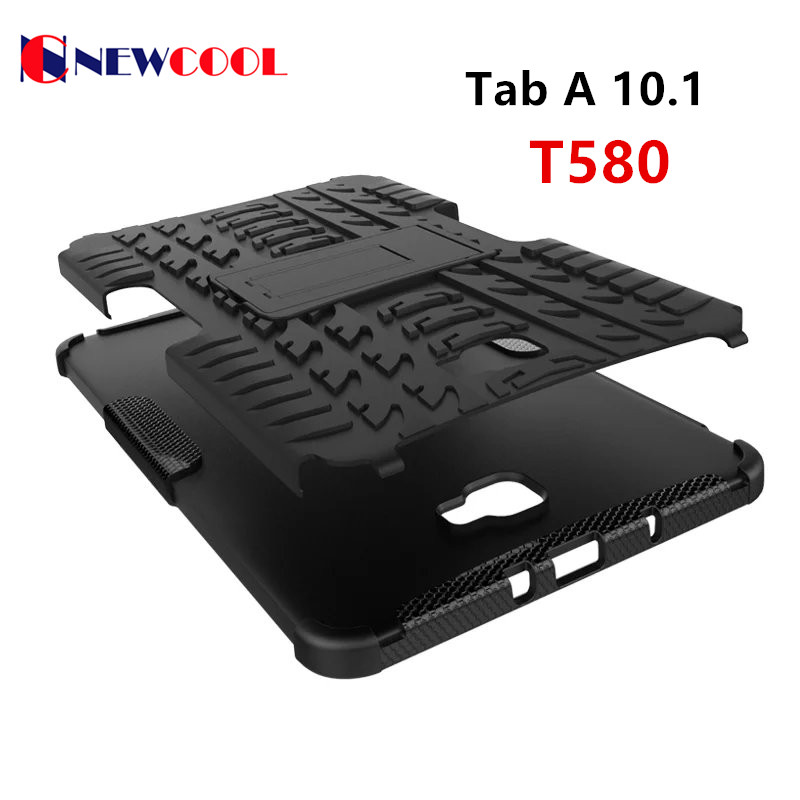 For Samsung Galaxy Tab A 10.1 2016 T585 T580 Tablet case Heavy Duty Defender Rugged TPU+PC Armor Shockproof KickStand Cover