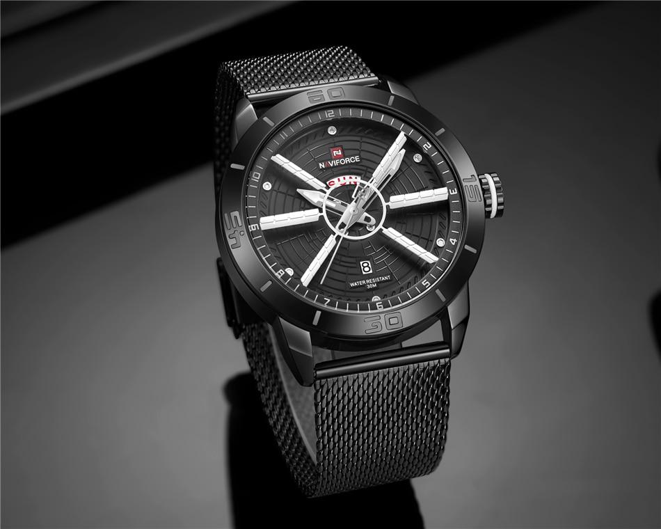 NAVIFORCE Mens Watches Top Brand Luxury Quartz Watch Men Full Steel Men Watch Sport Fashion Business Watches Relogio Masculino 23