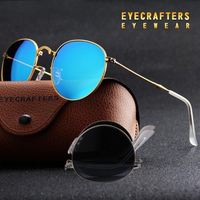 e58cbcdf553 Blue Portable Foldable Folding Sunglasses Polarized Mens Womens Fashion Retro  Vintage SunGlasses Driving Mirrored Eyewear 3532