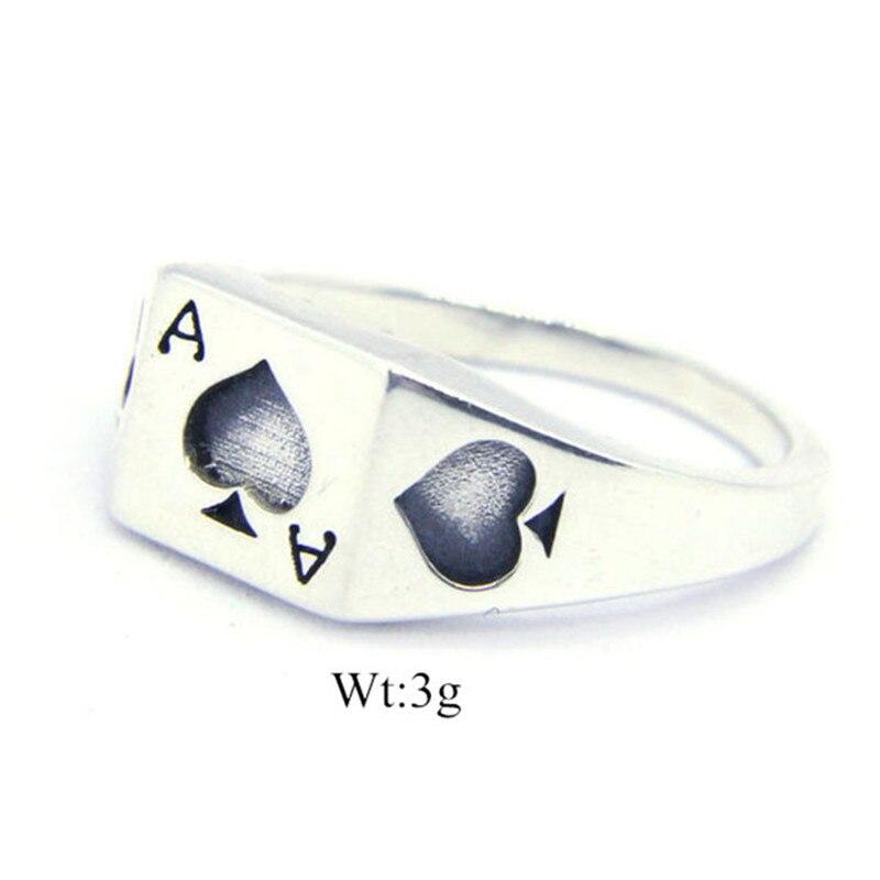 Размеры 6-10 Бесплатная доставка Покер Лопата кольцо из ...