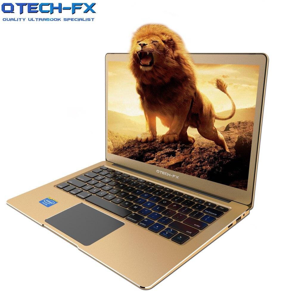 Métal 13.3 IPS Ultrabook 64 gb-512 gb SSD 6 gb RAM CPU Intel Windows10 1080 p Ordinateur Portable arabe Français Espagnol Russe Clavier Rétro-Éclairé