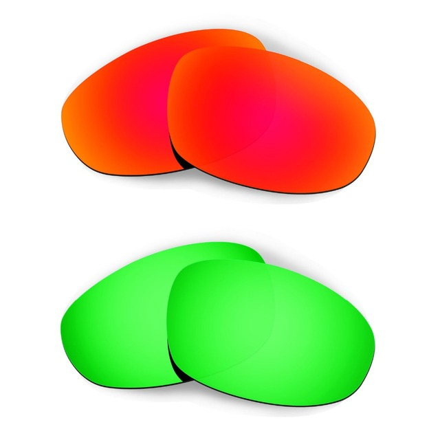 63e3983c0ef HKUCO For Juliet Sunglasses Replacement Lenses Red Emerald Green 2 Pairs