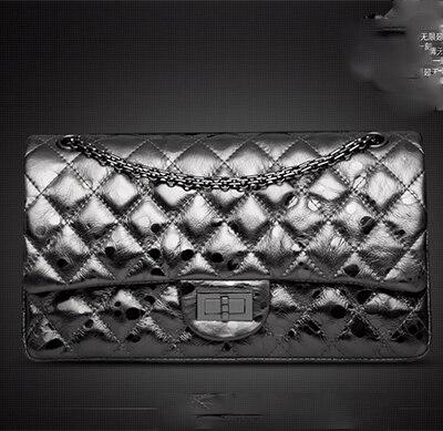 XIYUAN 2017 New Women Handbag Genuine Leather Shoulder font b Bag b font Cowhide Ladies Silver