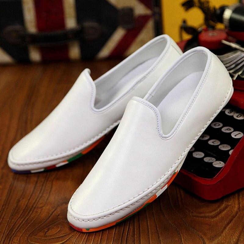 Sapatos Preto Homens New Casuais Homme Pu Couro Verão Primavera Fresco Baixos Respirável Mens branco Shoes Chaussure Nice Preguiçosos vermelho REaxBa